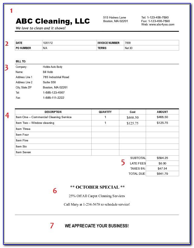 Proforma Invoice Template For Mac