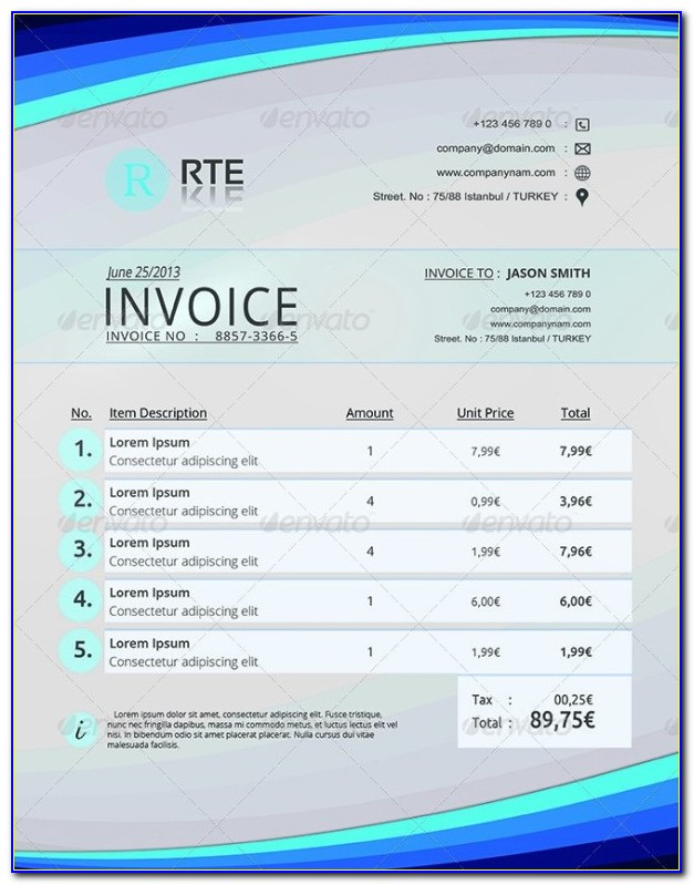 Receipt Template Excel Download Free