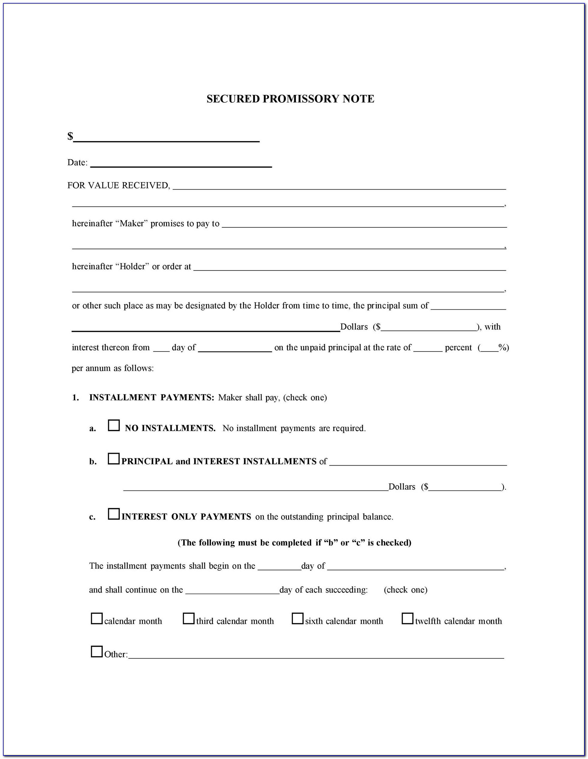 Retail Installment Sale Contract Form