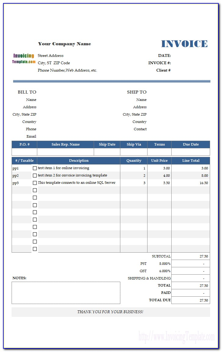 Sales Receipt Template For Mac