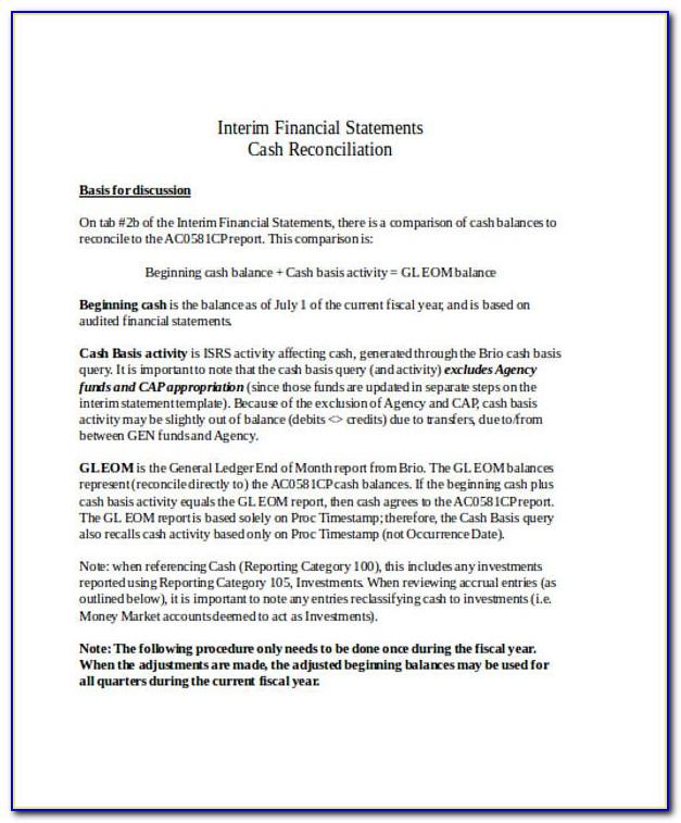 Sample Condensed Interim Financial Statements