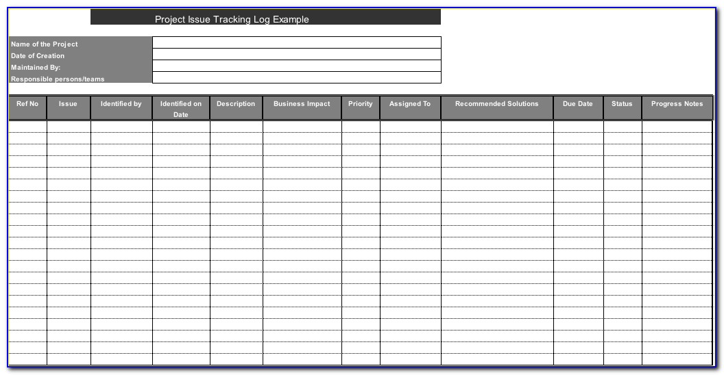 Software Issue Tracker Excel Template
