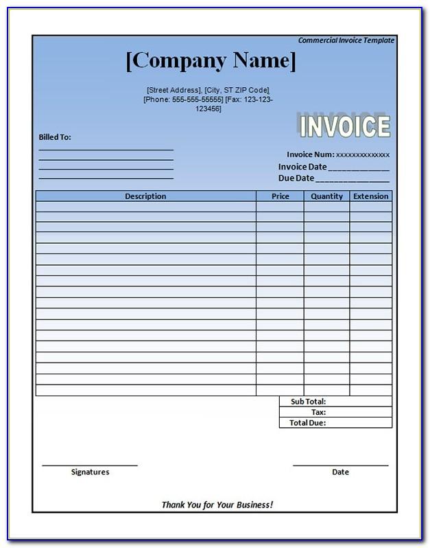 Tax Invoice Template Car Sale