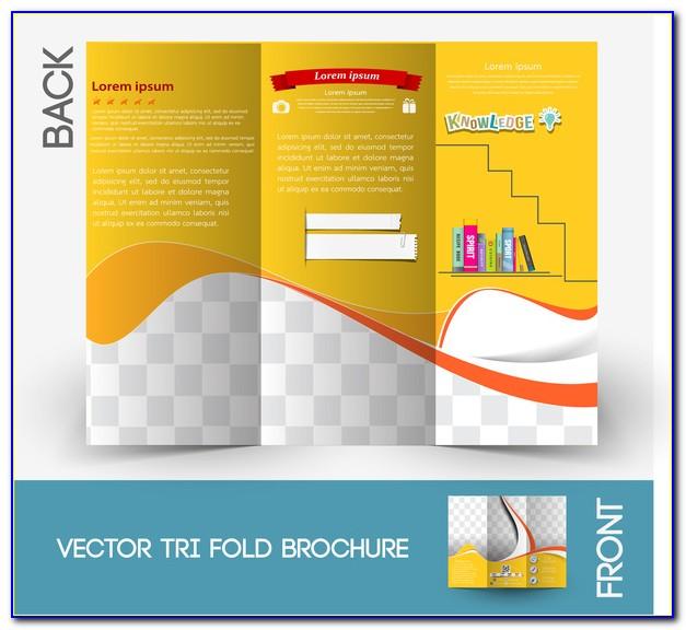 Tri Fold Brochure Illustrator Template Free Download