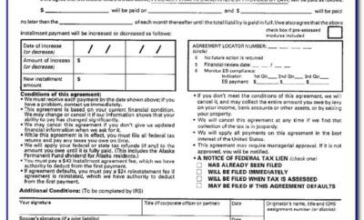 Where To Fax Irs Installment Agreement Form 433 D