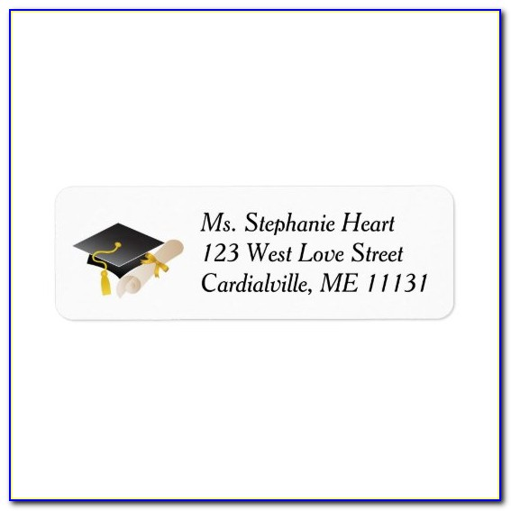 2019 Graduation Return Address Labels Templates Free