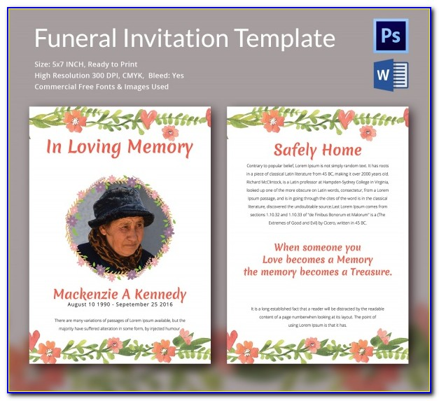 After Funeral Reception Invitation Wording