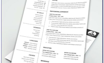 Attractive Resume Word Templates Free Download