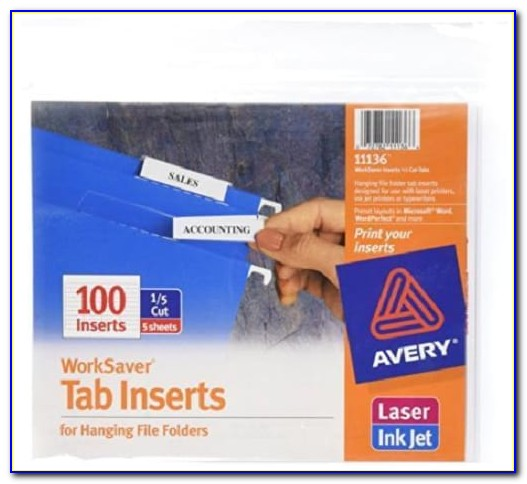 Avery Hanging File Folder Labels Template 11136