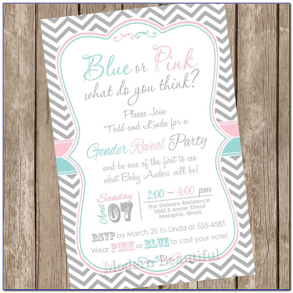 Baby Gender Reveal Invitations Templates