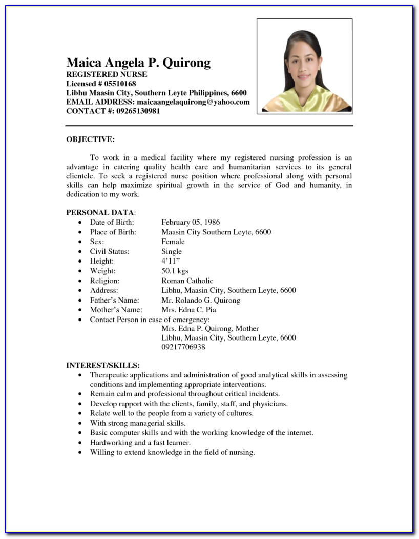 Best Registered Nurse Resume Sample