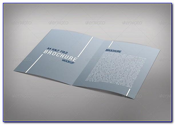 Blank Half Fold Brochure Template Free