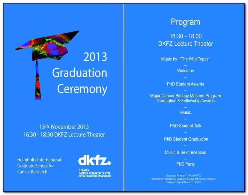 College Graduation Ceremony Program Template