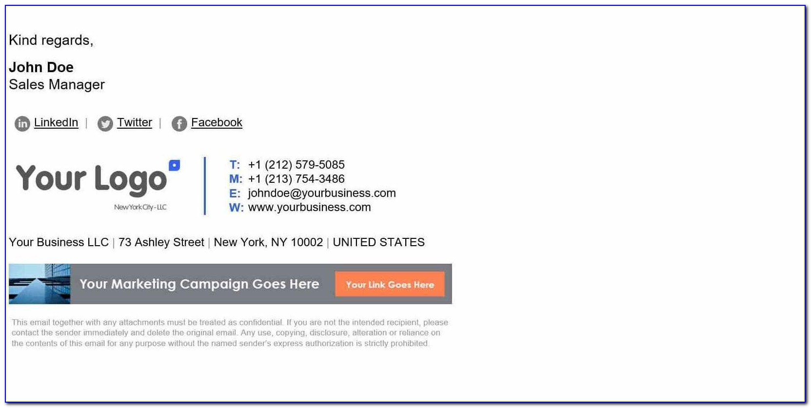 Cool Email Signature Templates