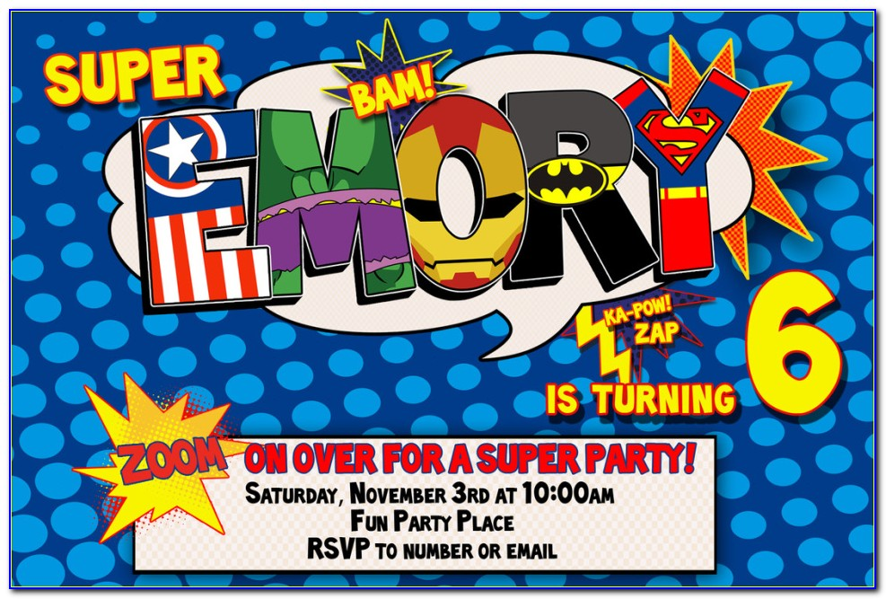 Dc Superhero Girl Invitation Template