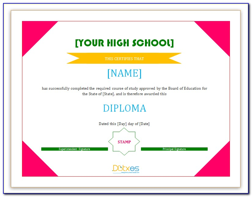 Diploma Certificate Templates Free Download