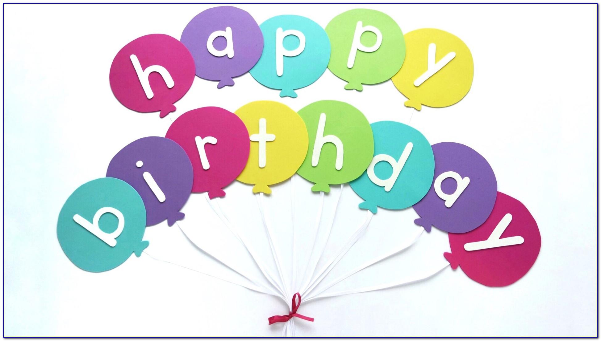 Diy Happy Birthday Banner Template