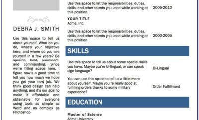 Download Free Resume Templates For Microsoft Office