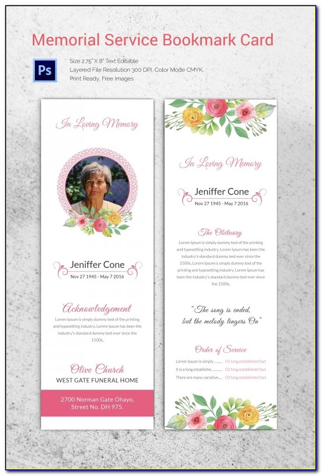Download Funeral Program Designs Templates