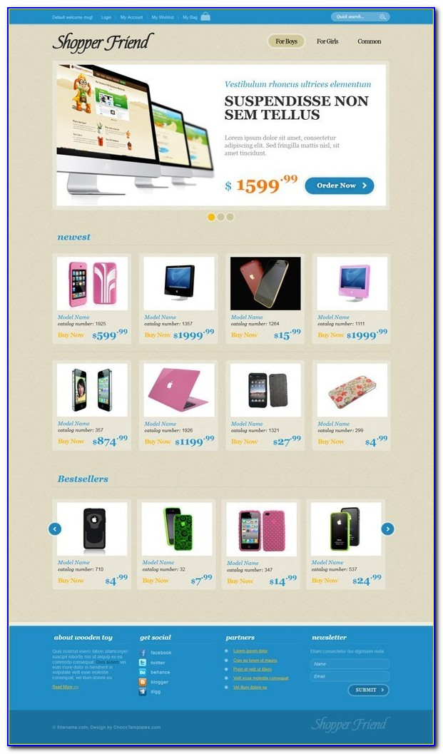 Ecommerce Shopping Cart Templates Free Download