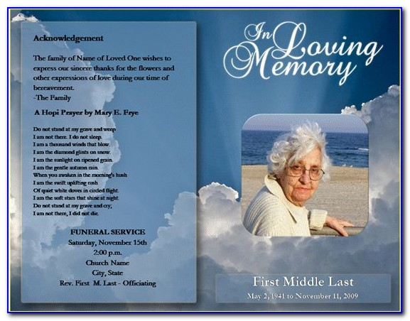 Editable Funeral Program Template Download