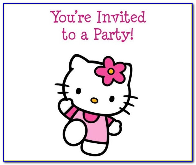 Editable Hello Kitty Birthday Invitation Template