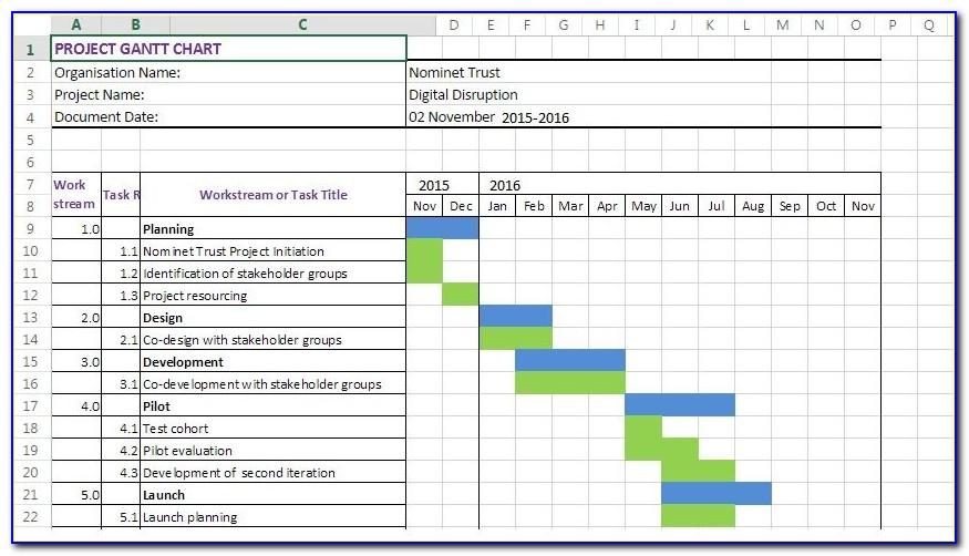 Excel 2003 Gantt Chart Template