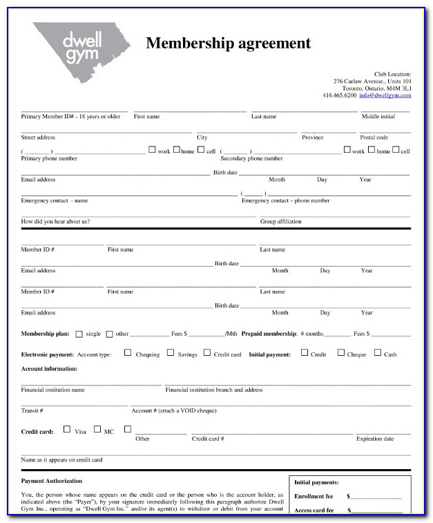Fitness Membership Cancellation Form