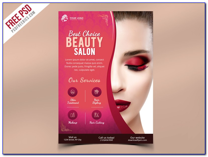 Free Beauty Salon Flyer Template