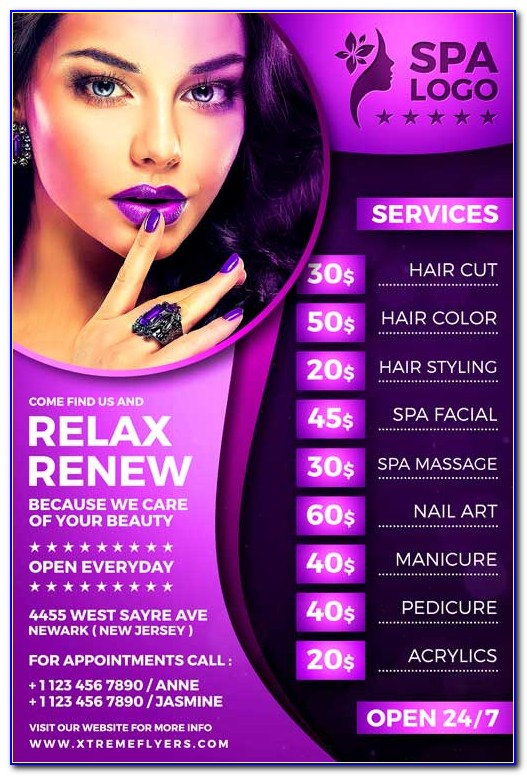 Free Beauty Salon Flyer Templates