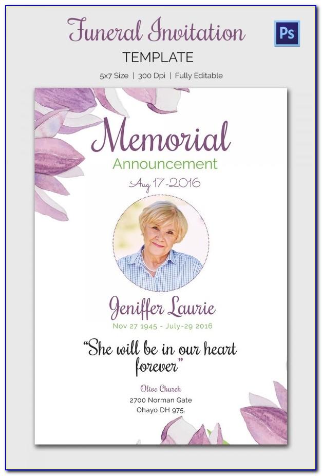 Free Blank Funeral Program Templates Pdf
