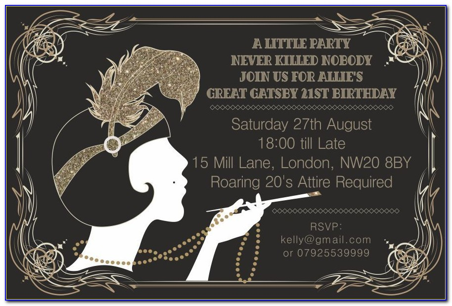 Free Blank Great Gatsby Invitation Template
