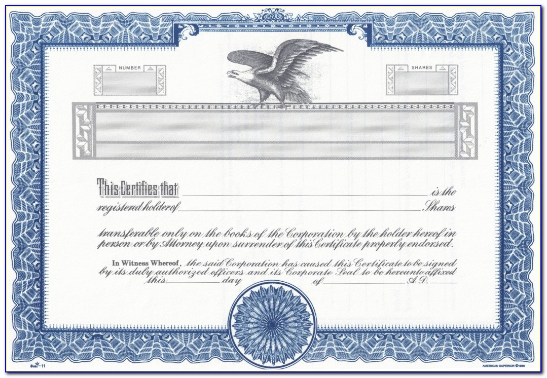 Free Blank Stock Certificate Template