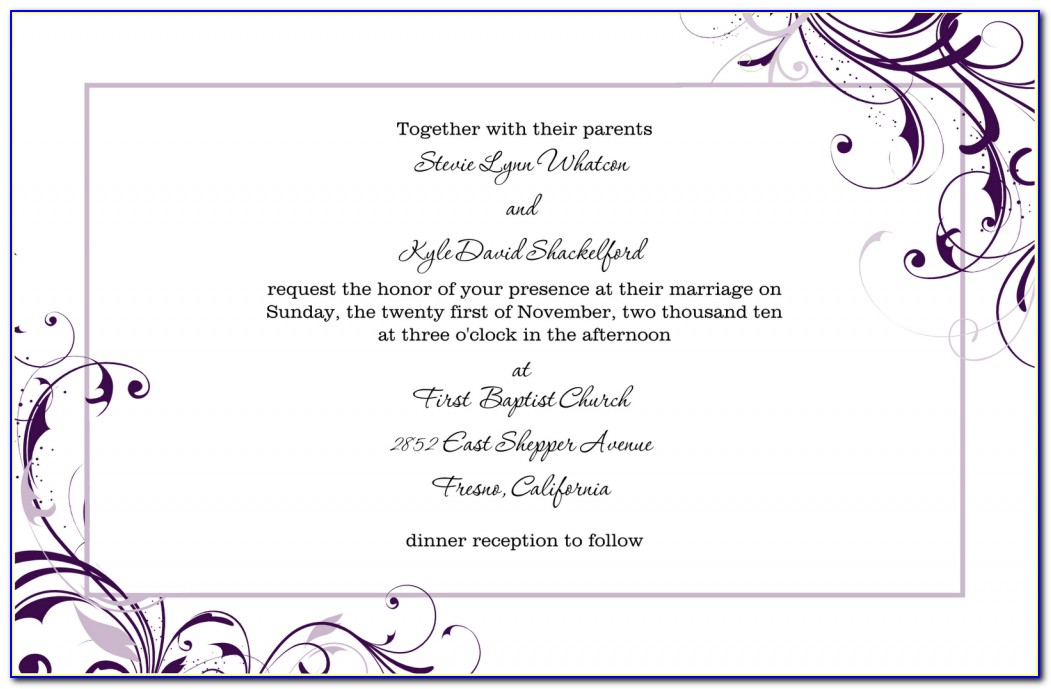 Free Bridal Shower Invitations Templates For Word