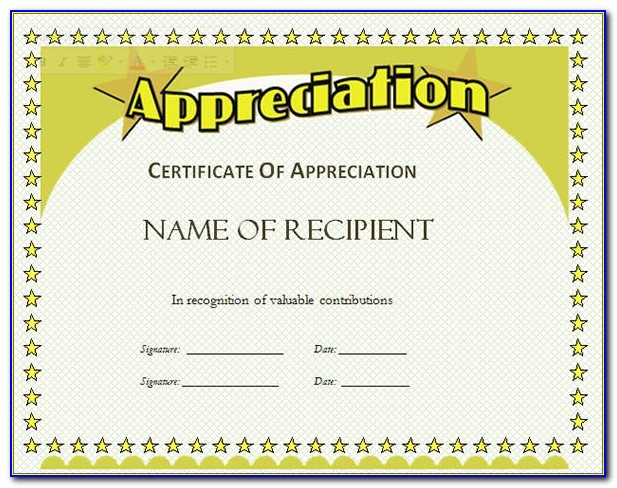 Free Certificate Of Appreciation Template Powerpoint