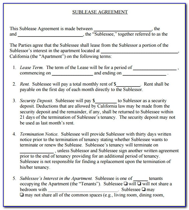 Free Commercial Lease Agreement Template Word