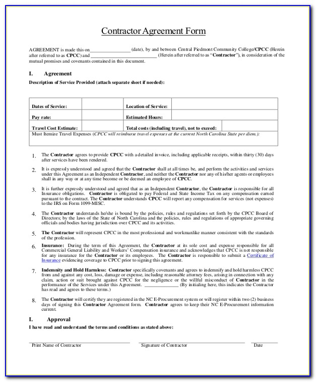 Free Contract Template For Borrowing Money