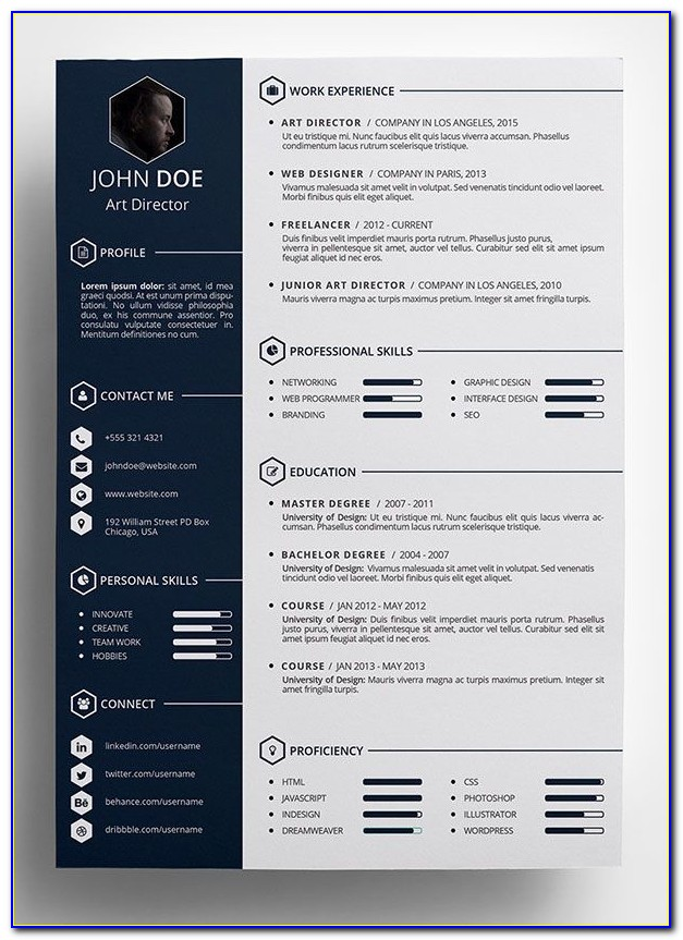 Free Creative Resume Template Download Word