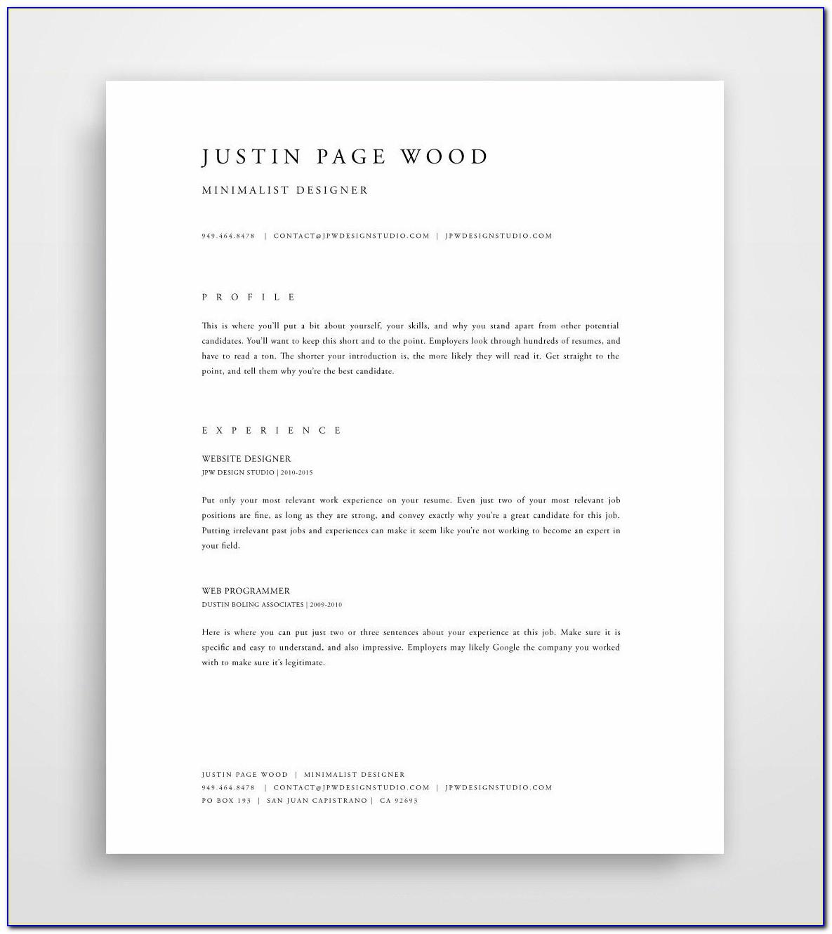 Free Creative Resume Templates Download Pdf