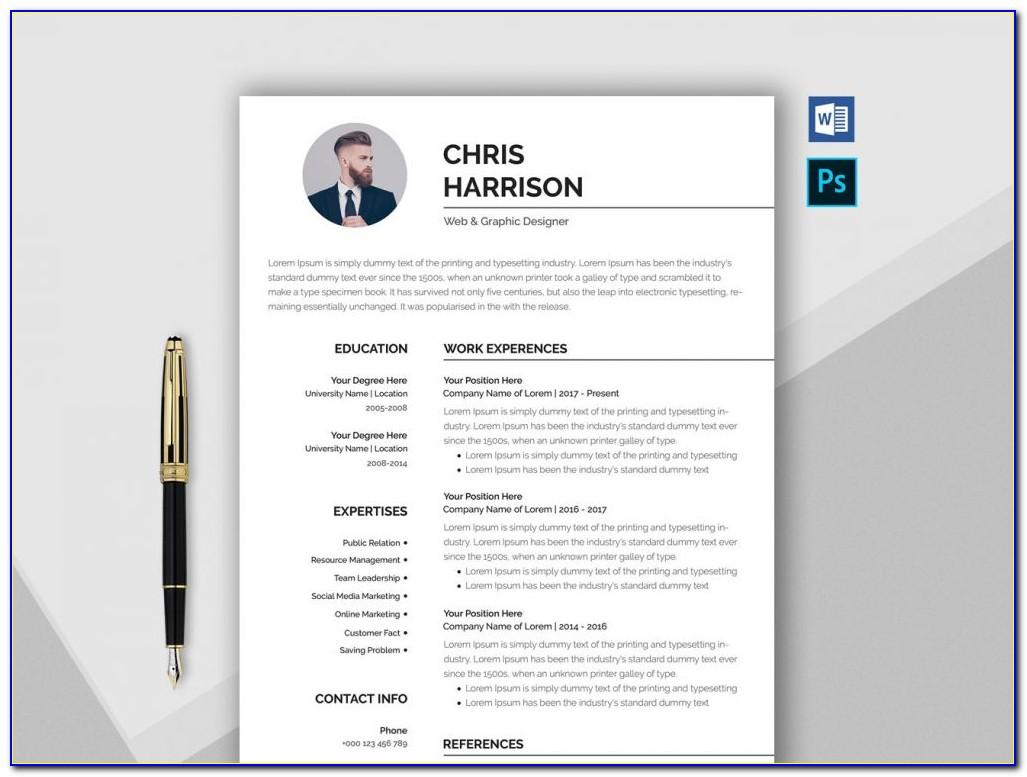 Free Creative Resume Templates Microsoft Word With Photo
