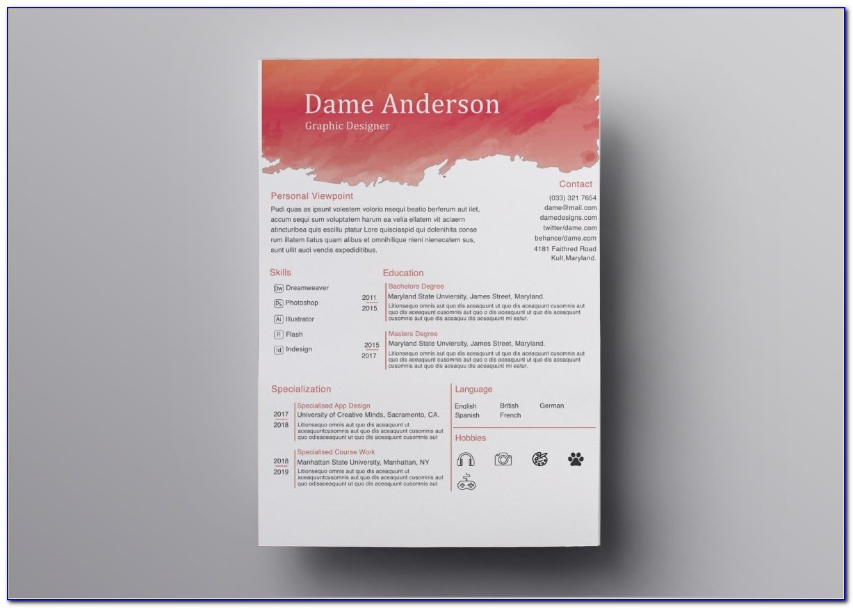 Free Cv Template Doc Download