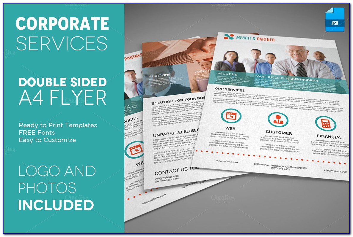 Free Double Sided Brochure Templates