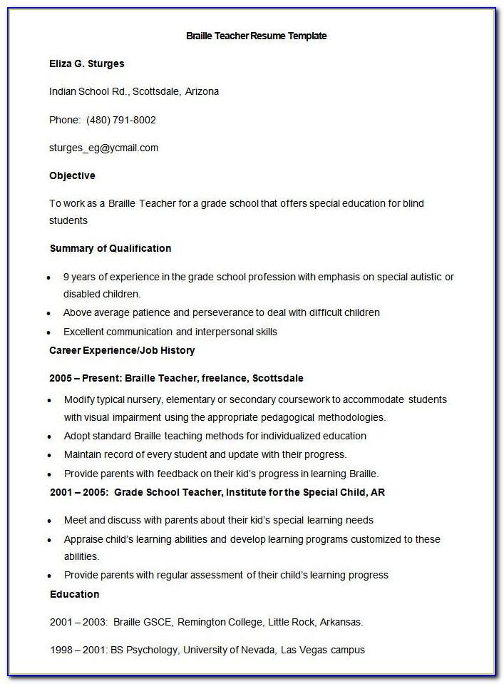 Free Download Resume Format Doc File