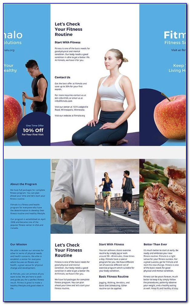 Free Download Tri Fold Brochure Template Publisher
