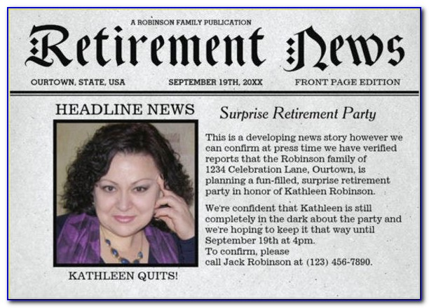 Free Downloadable Retirement Invitation Templates