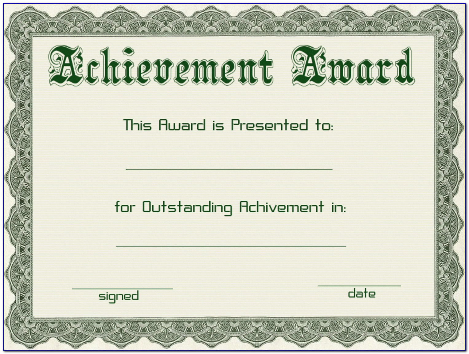 Free Editable Award Certificate Templates For Word