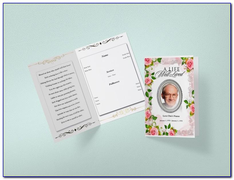 Free Editable Funeral Program Template Word