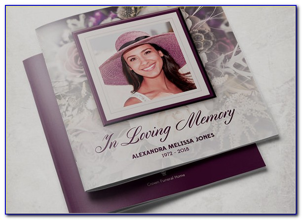 Free Editable Tri Fold Funeral Program Template