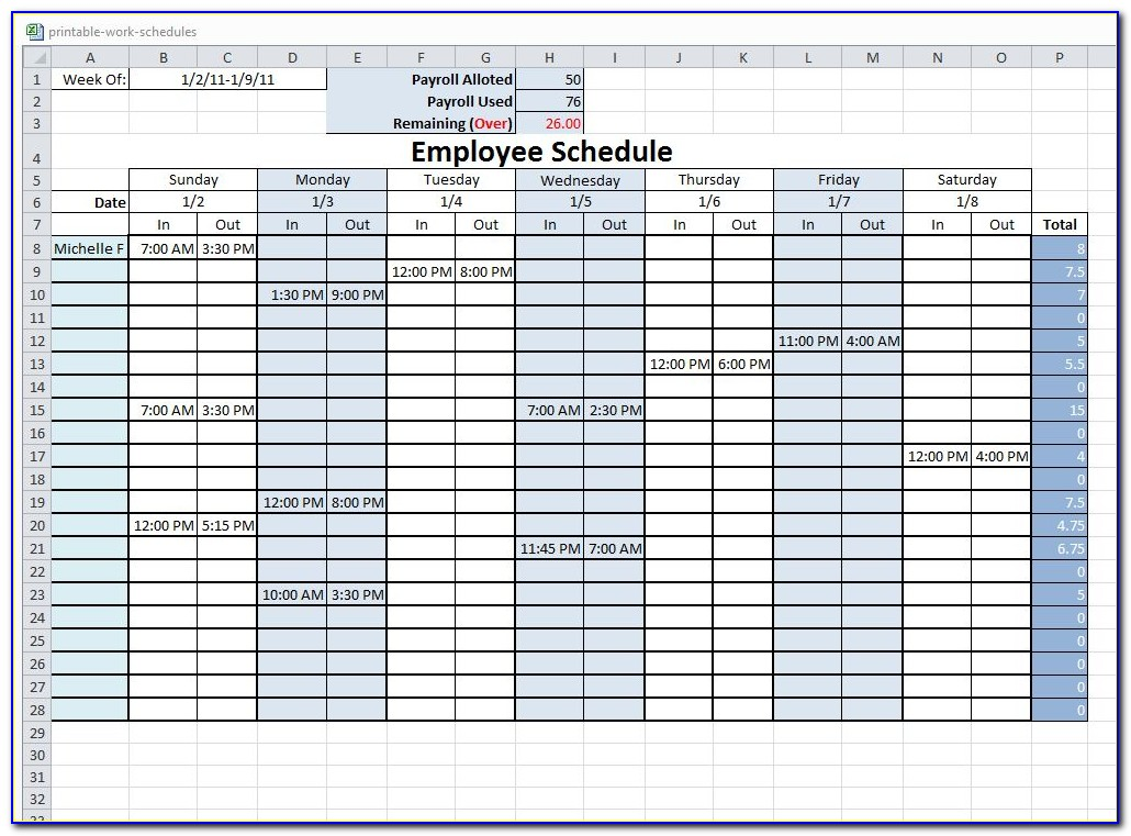 Free Excel Work Order Templates