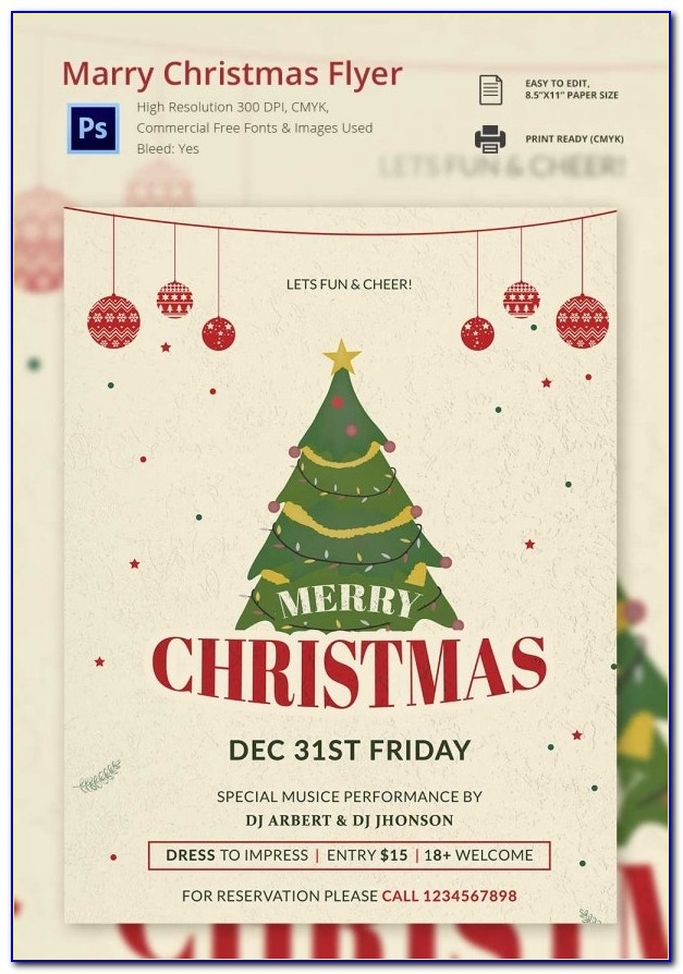 Free Flyer Templates For Christmas Party